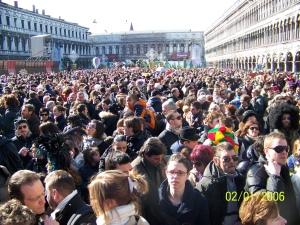 Piazza San Marco pendant le Vol de l'Ange