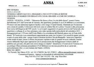 Communiqué de presse ANSA