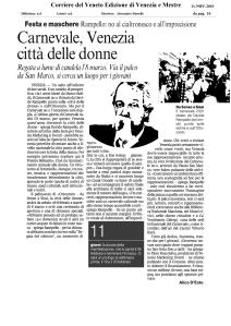 Corriere dil Veneto du 11 11 2010 - édition papier
