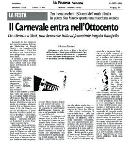 La Nuova du 11 novembre 2010 - Edition papier