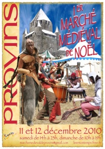 Affiche Marché de Noël à Provins