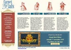 Site Internet de Carnet de Bals