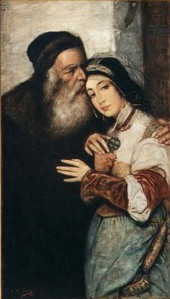 Shylock e Jessica - Maurycy Gottlieb