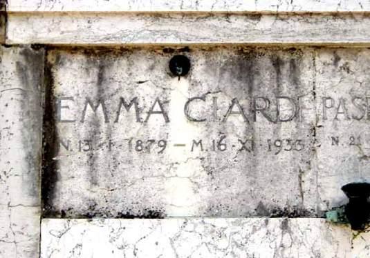 Tombe d'Emma Ciardi