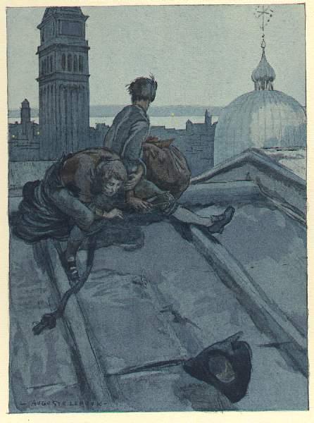 """Illustration d'Auguste Leroux pour le """"Livre de ma Vie"""" de Casanova"""