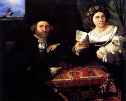 Le double portrait des époux par Lorenzo Lotto