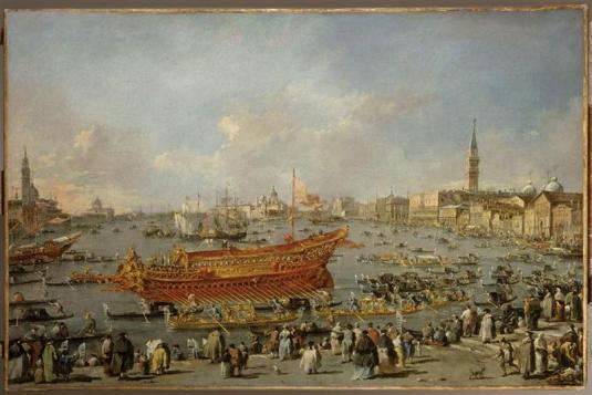 Le Départ du Bucentaure vers le Lido de Venise, le jour de l'Ascension