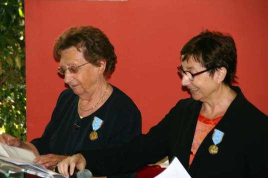 Jacqueline Touvier et Françoise Allard médaillées - Photo R. Paoli pour ARIA