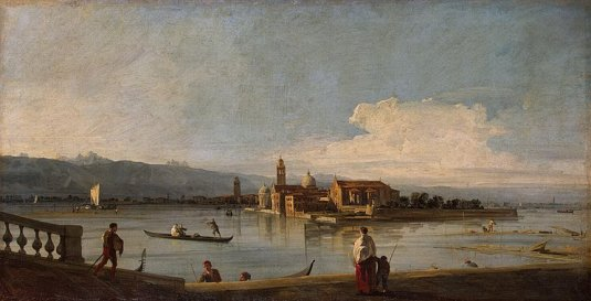 Vue des iles de San Michele, San Cristoforo et Murano depuis les Fondamenta Nuove