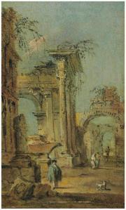 Cap1rice au sarcophage et ruines