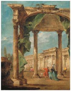 Caprice architectural avec une grande arche