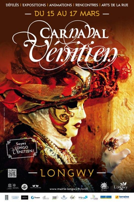 Carnaval vénitien de Longwy - Affiche