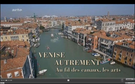 Venise autrement sur Arte Va1