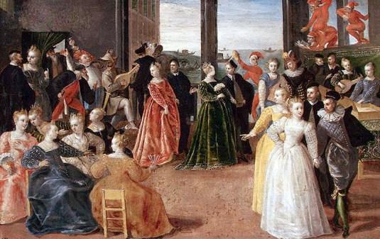 Heironymus Francken - Carnaval à Venise - XVIème siècle