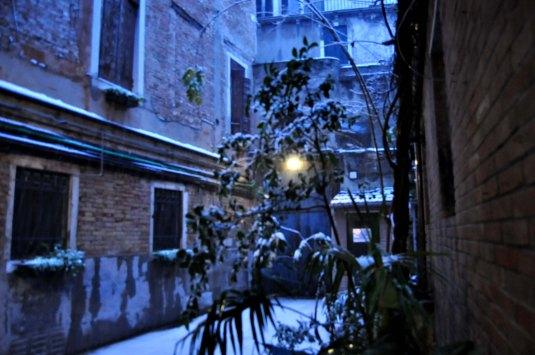 Neige sur Venise, lundi 11 février 2013