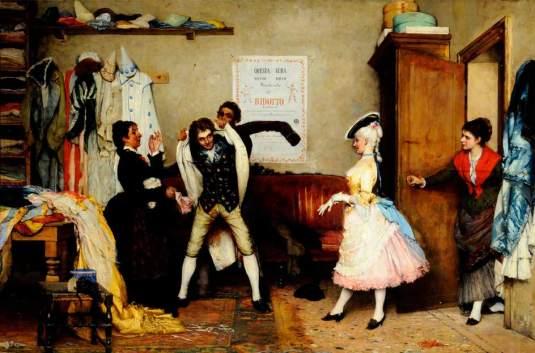 Dressing for the Masquerade - Eugen von Blaas, vers 1885-  Sheffield City Art Galleries (Angleterre)