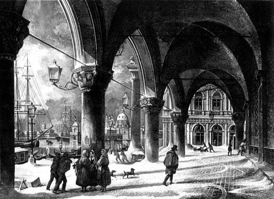 Molo con neve - Giuseppe Borsato 1846