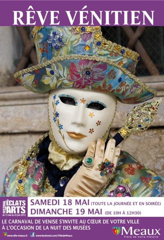 La Ville de Meaux reçoit les costumés Vénitiens