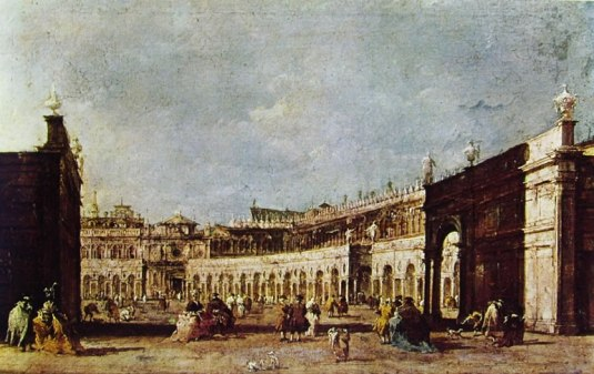 rancesco Guardi - piazza san marco parata per la Sensa