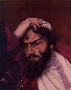 Chaliapine dans le rôle de Boris Godounov dans l'opéra éponyme (Photo de Sergueï Prokoudine-Gorski 1915)