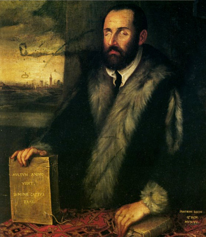 Portrait de Luigi Groto, par Tintoretto