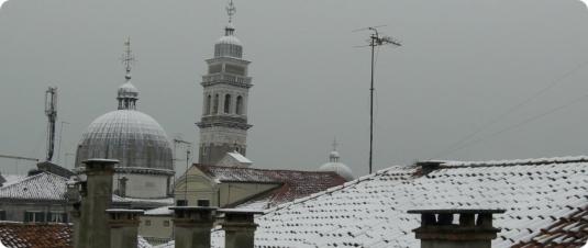 Neige sur Venise le 26 mars 2013