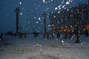 Neige sur Venise le 25 mars 2013