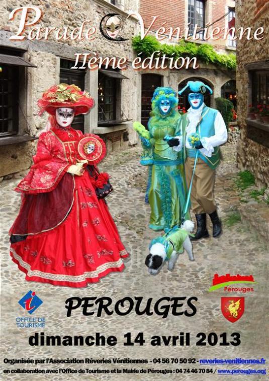 La seconde Parade vénitienne de Pérouges aura lieu le 14 Avril prochain