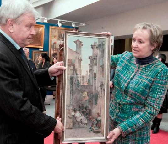 L'aquarelles d'Alexander Volkov-Mouromtsev est restituée
