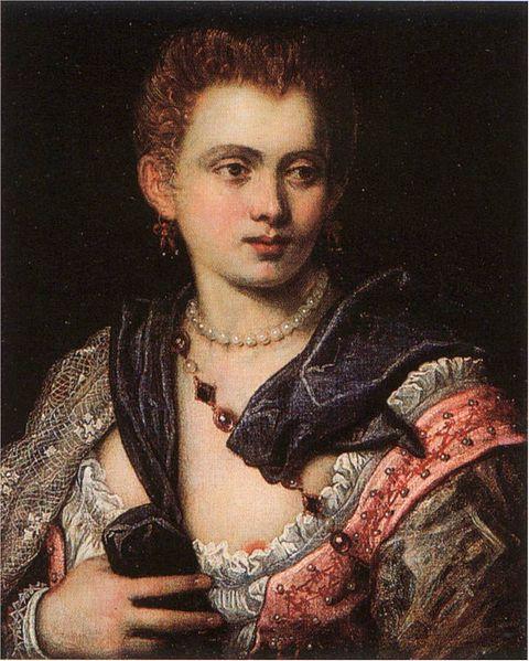 Veronica Franco par Le Tintoret, 1575, Worcester Art Museum, Worcester, Massachusetts.