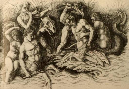 Andrea Mantegna La battaglia degli Dei marini