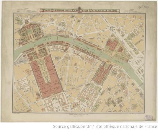 Plan commode de l'exposition universelle de 1900