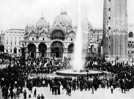Inauguration de la concession place saint-Marc le 20 juin 1884