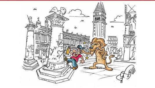 Message sublidinal à l'intention des pollueurs de Venise