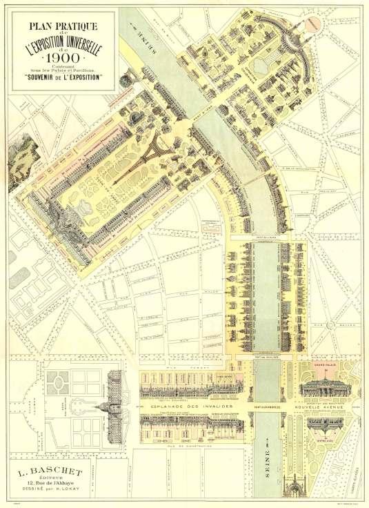 Plan Pratique de l'exposition Universelle de Paris - 1900