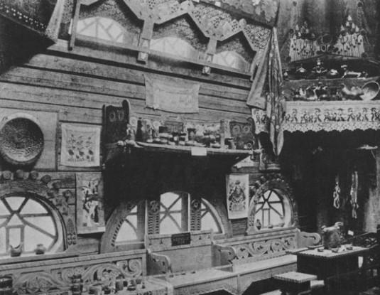 L'interieur du pavillon de l'artisanat