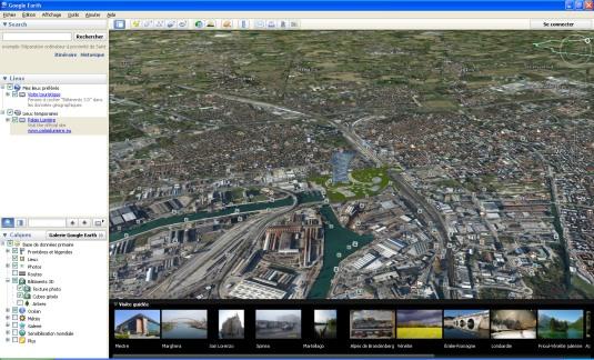 le Palais Lumière dans Google Earth