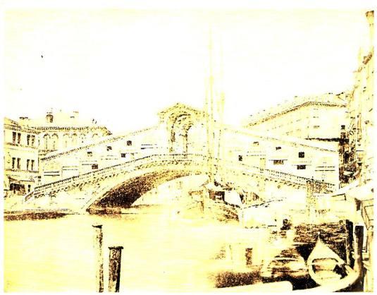 Pont du Rialto, daguerréotype anonyme de 1855