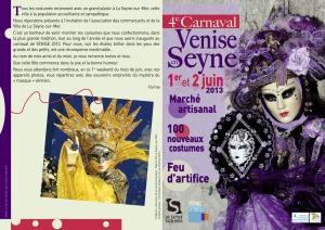 Flyer Venise en Seyne 2013