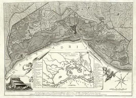 La Veneta Laguna antica e moderna, novamenta delineata e distinta nelle sue Isole, Valli, e Canali, quali si trovano al presente