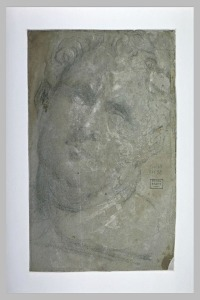 Etude d'après un moulage de tête dite de Vitellius