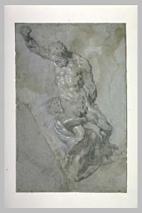 Etude d'après un moulage du groupe de Michel-Ange : Samson et les Philistins
