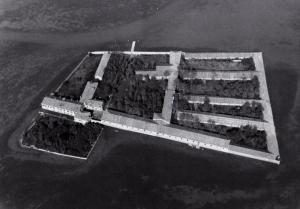 Vue aérienne du Lazzaretto Vecchio