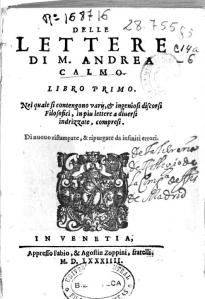 Delle lettere di M. Andrea Calmo
