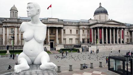 Alison Lapper Pregnant  à Trafalgar Square