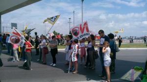 Journées Internationale de lutte contre les Grands Navires - manifestation sur terre