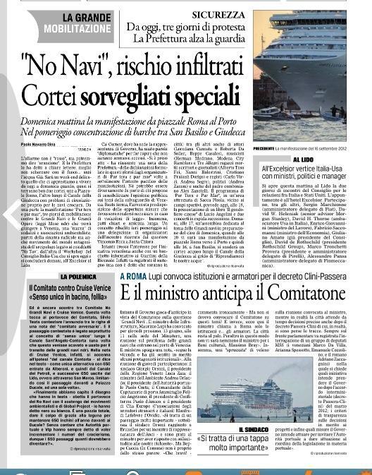 giornate di lotta e mobilitazione internazionale contro le grandi navi e le grandi opere