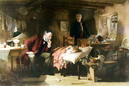 The Doctor par Sir Samuel Luke Fildes - 1881