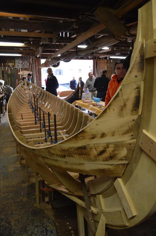 La barque pendant le chantier