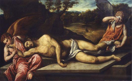 Paris Bordone, Mrtvý Kristus oplakávaný anděly